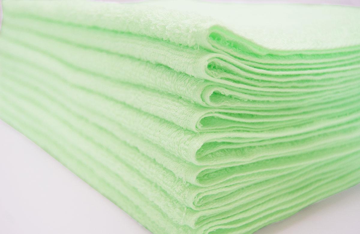 グリーン、黄緑、若草カラータオル、ミドリ