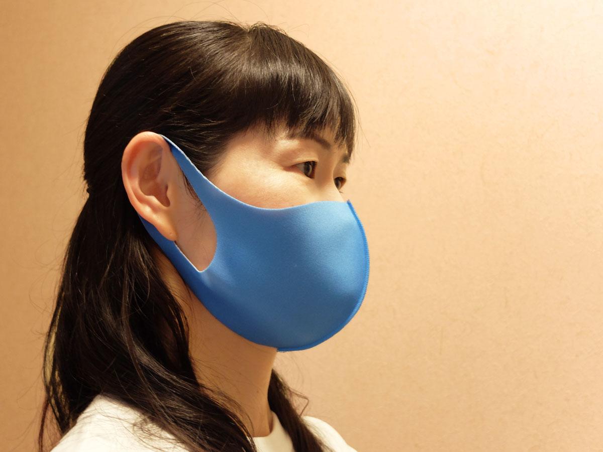 桔梗紋水色マスク反対側