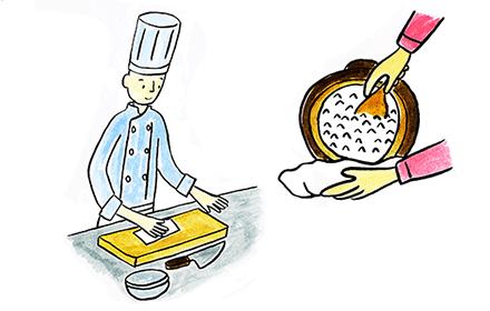 料理用、台所タオルとして