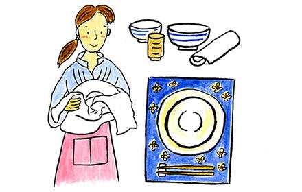 布巾、食器ふきん、インテリアとして