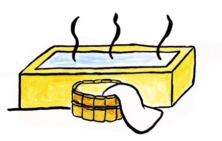 お風呂、銭湯、温泉タオルとして