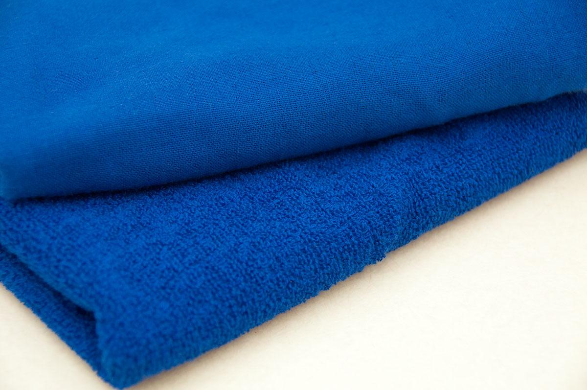 藍色ガーゼタオル 藍染め風