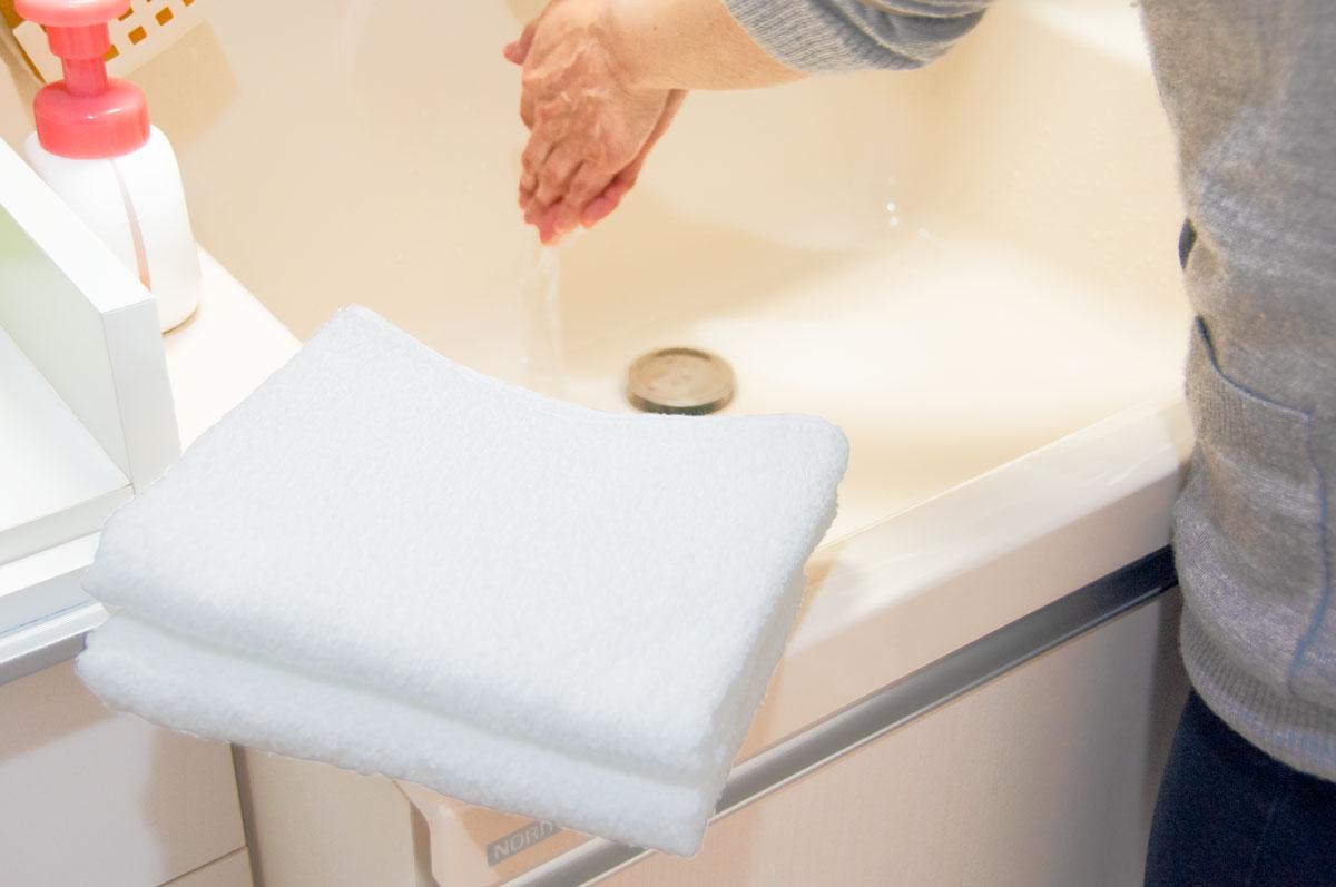 抗菌タオル 手洗い 清潔