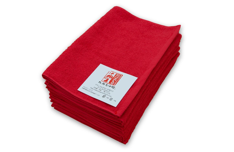 赤色 レッド フェイスタオル