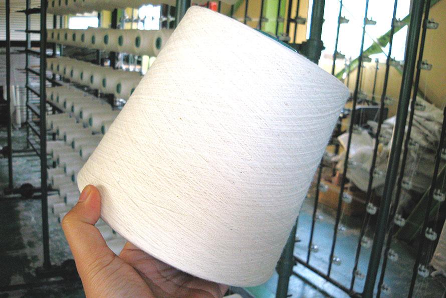 綿糸を準備