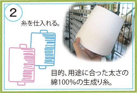 タオルを織る準備